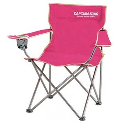 キャプテンスタッグ アウトドアチェア パレット ラウンジチェア typeII チェアー/椅子/キャンプ/レジャー用   ピンク