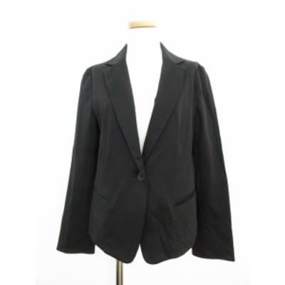 【中古】INNOVER CLASSIC ジャケット テーラード ストレッチ 38 黒 ブラック /ka0110 レディース