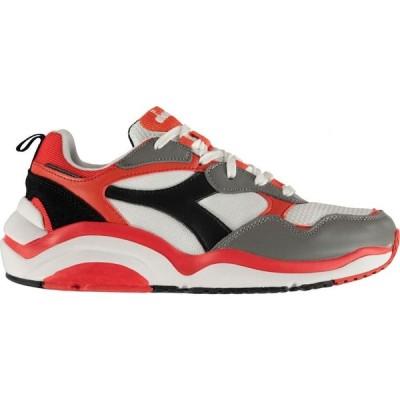 ディアドラライフスタイル Diadora Lifestyle メンズ スニーカー シューズ・靴 Whizz Run Trainers White/Risk Red