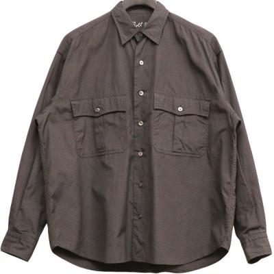 Porter Classic 19SS ROLL UP DOT SHIRTロールアップドットシャツ ネイビー サイズ:S (下北沢店) 210503