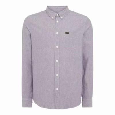 リー シャツ Button Down Denim Shirt blue