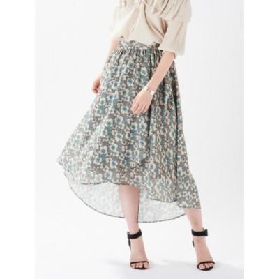 ボタニカルフラワーラップスカート