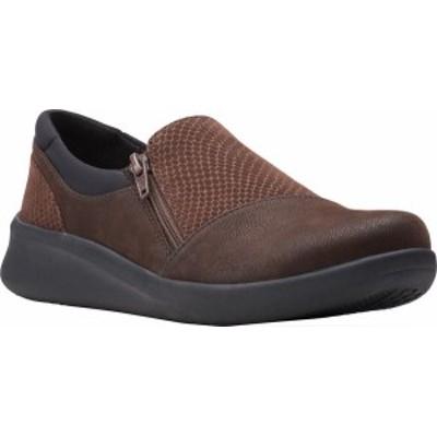 クラークス レディース スニーカー シューズ Sillian 2.0 Day Sneaker Brown Combi Synthetic Leather