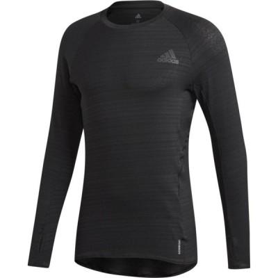 アディダス adidas メンズ ランニング・ウォーキング Tシャツ トップス Adi Runner L/S Tee Black