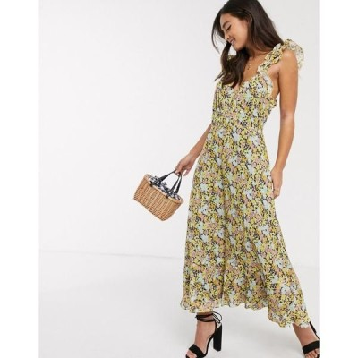 テルーラ レディース ワンピース トップス Talulah sunny days floral midi dress in summer breeze Summer breeze