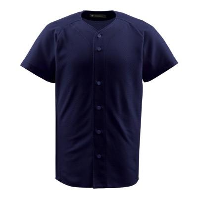 (DESCENTE/デサント)【ジュニア】【野球】フルオープンシャツ/メンズ ネイビー系