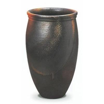 信楽焼 陶器 傘立て 和風 モダン 洋風 茶 ブラウン ベージュ 壺 金彩壷 金彩釉 B 高57cm