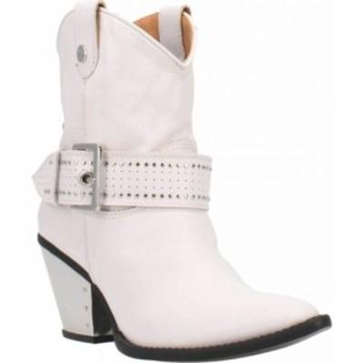 ディンゴ Dingo レディース ブーツ シューズ・靴 Backstage DI 243 Western Bootie White Leather