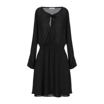 RUE•8ISQUIT ミニワンピース&ドレス ブラック 44 ポリエステル 100% ミニワンピース&ドレス