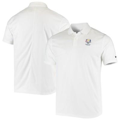 """ナイキ メンズ """"2020 Ryder Cup"""" Nike Victory Solid Logo Performance Polo ポロシャツ 半袖 ゴルフ White"""
