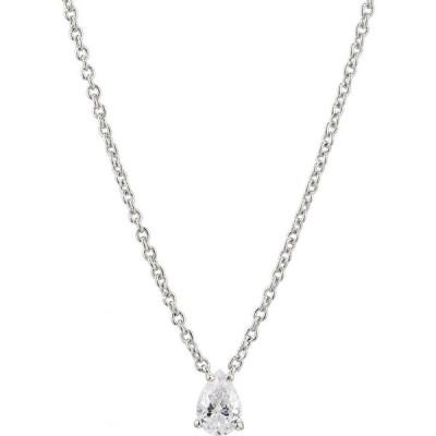 ナディール NADRI レディース ネックレス ジュエリー・アクセサリー Modern Luv Small Pear Cubic Zirconia Pendant Necklace Rhodium
