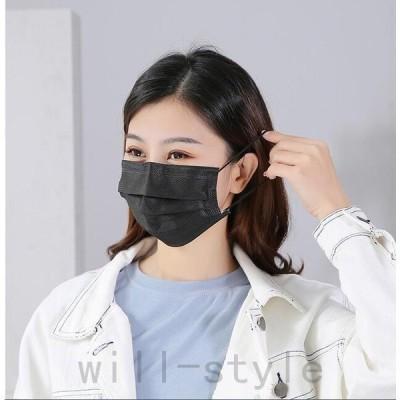 不織布マスク100枚99%カットフィルター採用3層構造不織布マスク使い捨て平ゴム耳に優しいマスク白ウイルス花粉ハウスダスト