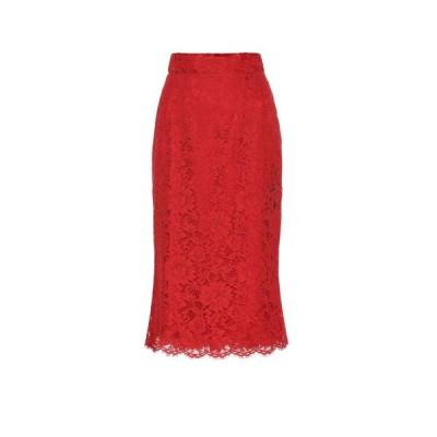 ドルチェ&ガッバーナ Dolce & Gabbana レディース スカート floral-lace skirt Bright Red