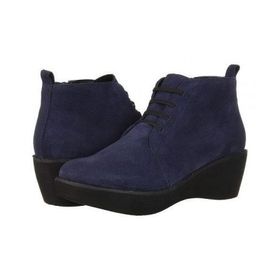 Kenneth Cole Reaction ケネスコール レディース 女性用 シューズ 靴 ブーツ レースアップブーツ Prime Lace-Up Bootie - Navy