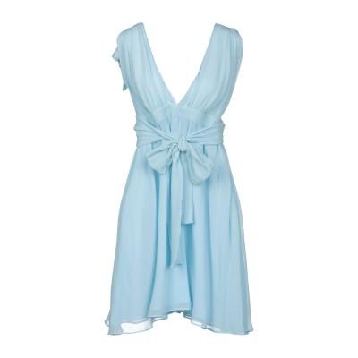 PINKO UNIQUENESS ミニワンピース&ドレス スカイブルー 44 コットン 78% / シルク 22% ミニワンピース&ドレス
