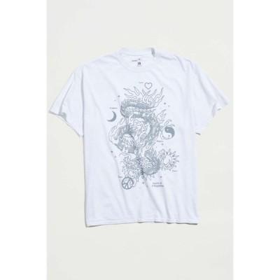 アーバンアウトフィッターズ Urban Outfitters メンズ Tシャツ トップス Dragon Source Of Happiness Tee Cream