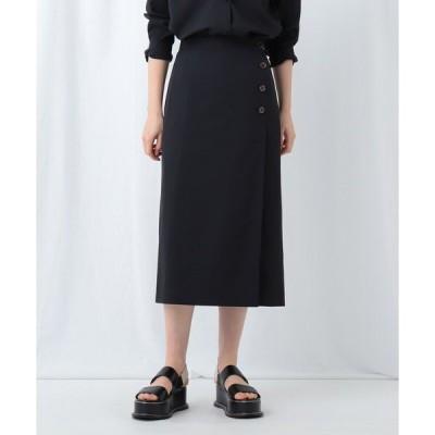 スカート 「S」【WEB限定】スパンライク ラップ風スカート