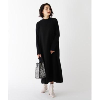 【オペークドットクリップ】 ダルサテン ダブルストラップキャミドレス レディース ブラック 40(L) OPAQUE.CLIP