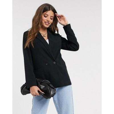 ヴェロモーダ レディース ジャケット・ブルゾン アウター Vero Moda double breasted blazer in black