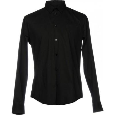 アルマーニ ジーンズ ARMANI JEANS メンズ シャツ トップス solid color shirt Black