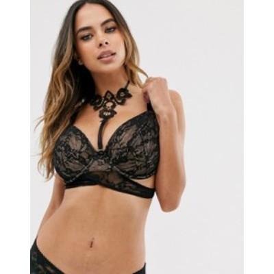 エイソス レディース ブラジャー アンダーウェア ASOS DESIGN Fuller bust Bennca strappy lace with applique detail underwire bra wit