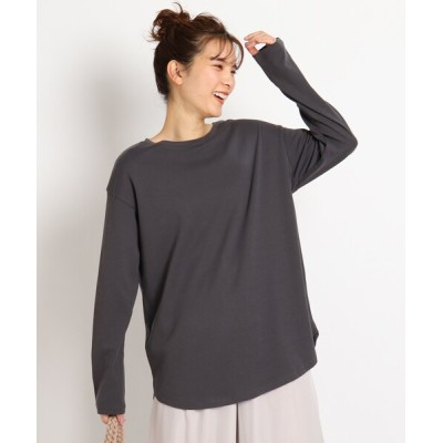 grove / 【S-LL】オーガニックコットン(綿)ラウンドヘムプルオーバー WOMEN トップス > Tシャツ/カットソー