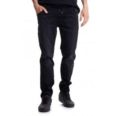 リール REELL メンズ ジーンズ・デニム ボトムス・パンツ - Jogger Jeans Black Faded - Jeans black