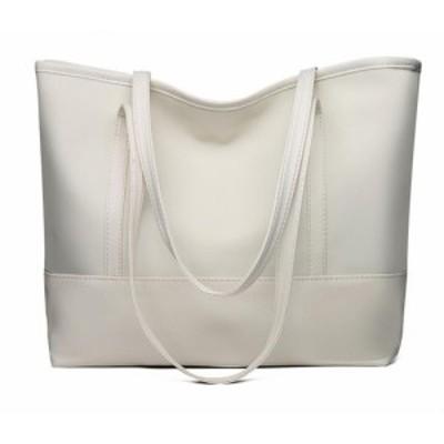 トートバッグ 手提げバッグ ショルダーバッグ レザー レディース メンズ ホワイト バッグ 鞄 おしゃれ