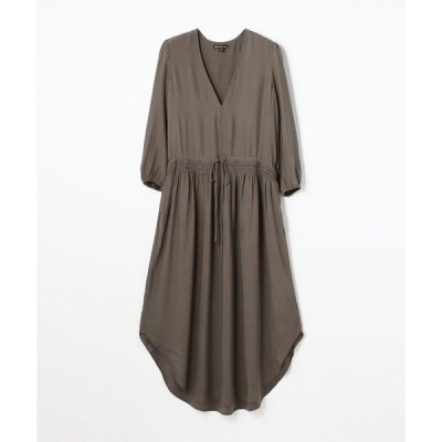 TOMORROWLAND / トゥモローランド シルクシャルムーズ Vネックドレス WFSC6433