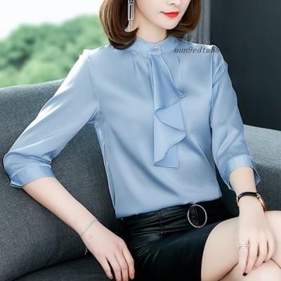 ファッション シルク 女性 ブラ ウス 韓国 女性 長袖 シャツ 白 Blusas Femininas エレガンテプラスサイズ XXXL 女性 トップス AliExpress グループ上 レデ