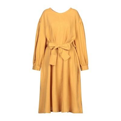 アメリカン ヴィンテージ AMERICAN VINTAGE 7分丈ワンピース・ドレス オークル XS/S コットン 60% / ポリエステル 30%