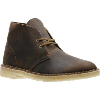 クラークス メンズ ブーツ&レインブーツ シューズ Desert Boot Beeswax Full Grain Leather
