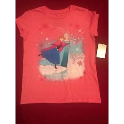 【お取り寄せ】ディズニー おもちゃ Disney Store FROZEN ANNA & ELSA Christmas tee T-Shirt for Girls Size Large 10/12