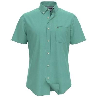 トミー ヒルフィガー シャツ トップス メンズ Men's Wainwright Custom-Fit Short-Sleeve Shirt Bright Green