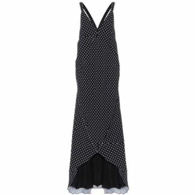 ハイダー アッカーマン Haider Ackermann レディース ワンピース マキシ丈 ワンピース・ドレス Polka-dot maxi dress Ajoi Black
