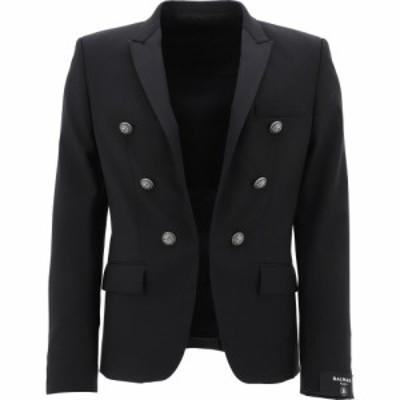 バルマン Balmain メンズ ジャケット アウター Wool Jacket With Embossed Buttons Black