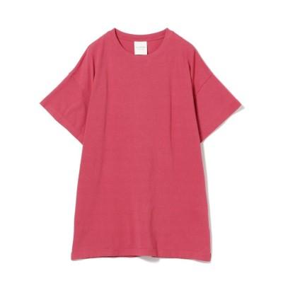 (BEAMS OUTLET/ビームス アウトレット)Ray BEAMS / サイドスリット ビッグ Tシャツ/レディース PINK