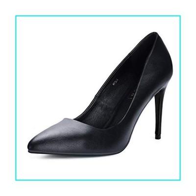 IDIFU Women's IN4 Classic Pointed Toe High Heels Pumps Wedding Dress Office Shoes (Black PU, 11 B(M) US)【並行輸入品】