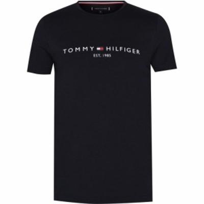 トミー ヒルフィガー Tommy Hilfiger メンズ Tシャツ ロゴTシャツ トップス Logo T Shirt Black BAS