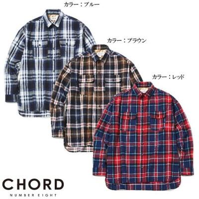 CHORD NUMBER EIGHT コードナンバーエイト L/S Big Shirts オーバーサイズチェック長袖シャツ OVERSIZED CHECK SHIRT N8M1H5-SH04 センス カジュアル ロック