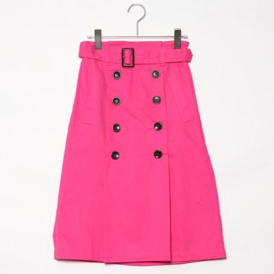 スタイルブロック STYLEBLOCK 綿ツイルベルト付きタックトレンチスカート (ピンク)