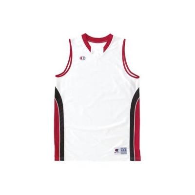 [チャンピオン] ガールズ ゲームシャツ バスケットボール ホワイト×レッド 日本 150 (日本サイズ150 相当)