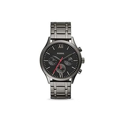 【新品未使用品】Fossil Fenmore Midsize Multifunction Smoke Stainless Steel Watch BQ2408【並行輸入品】