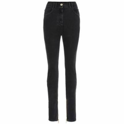 バルマン Balmain レディース ジーンズ・デニム ボトムス・パンツ High-rise skinny jeans Noir