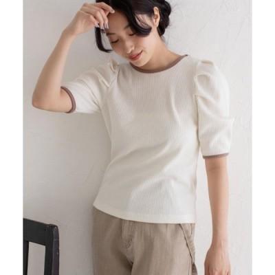 tシャツ Tシャツ ボリュームスリーブパイピングプルオーバー