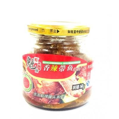 太刀魚揚げ(チリ辛味)168g 香辣帯魚缶頭 魁牌 香辣??罐?瓶装