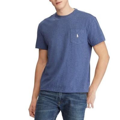 ラルフローレン メンズ Tシャツ トップス Classic-Fit Jersey Short-Sleeve Pocket Tee Derby Blue Heather