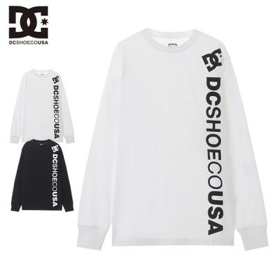 DC SHOE ディーシー メンズ ロンT クルーネック カットソー 白 黒 TEE ロングティーシャツ Tシャツ 20 VERTICAL BASIC LS