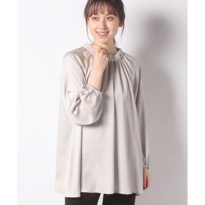 (Leilian/レリアン)【my perfect wardrobe】ギャザーネックブラウス/レディース ベージュ系