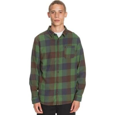 クイックシルバー Quiksilver メンズ シャツ フランネルシャツ トップス Motherfly Flannel Shirt Greener Pasture Motherfly